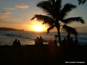 Sunset at Turtle Bay, Oahu, Hawaii