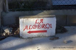 La Alberca Sign