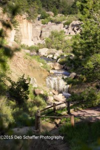 The falls at Castlewood Canyon